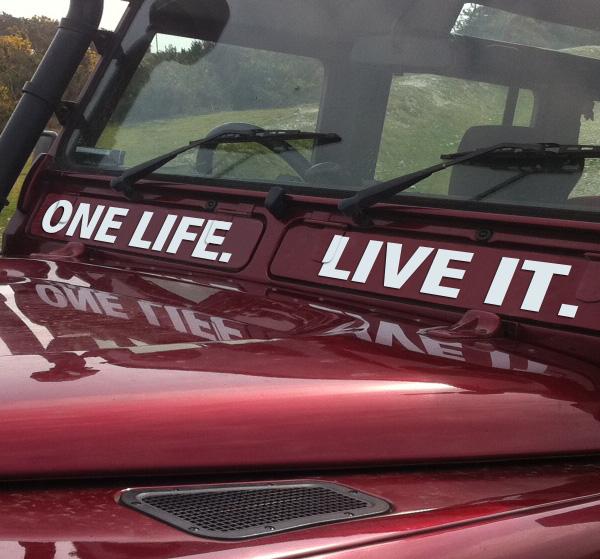 Dettagli Su One Life Live It Land Rover 110 Air Vent Adesivo Mostra Il Titolo Originale