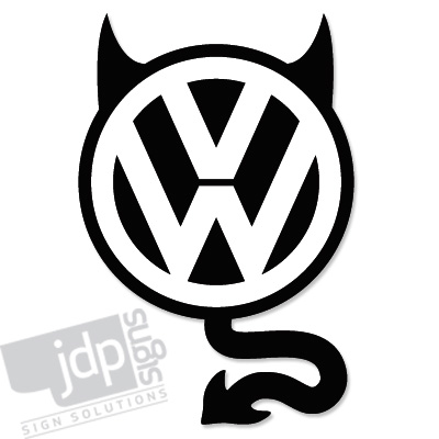Jdp signs vw devil vinyl decal sticker