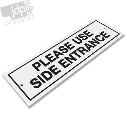 Si prega di utilizzare ingresso laterale 3mm PVC RIGIDO bordo sign-qualsiasi colore