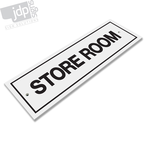Store room 3mm rigid pvc board sign any colour ebay for Storage room sign