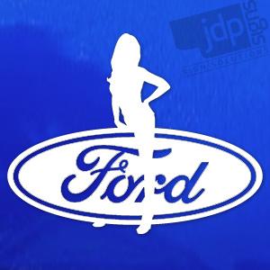 Jdp Signs Ford Sexy Girl Vinyl Decal Sticker