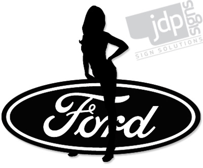 Top Stickers For Cars >> JDP Signs – FORD SEXY GIRL VINYL DECAL STICKER