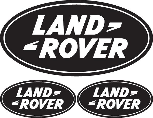 jdp signs 3x land rover logo external vinyl stickers. Black Bedroom Furniture Sets. Home Design Ideas