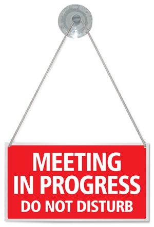 meeting in progress do not disturb hanging shop door sign any