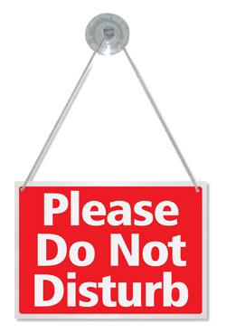 Please Do Not Disturb Hanging Sign Door Window